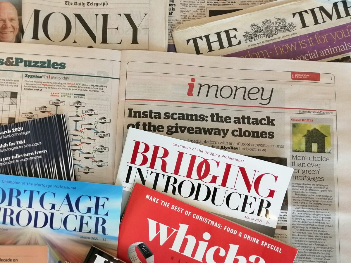 The traditional media - national and trade