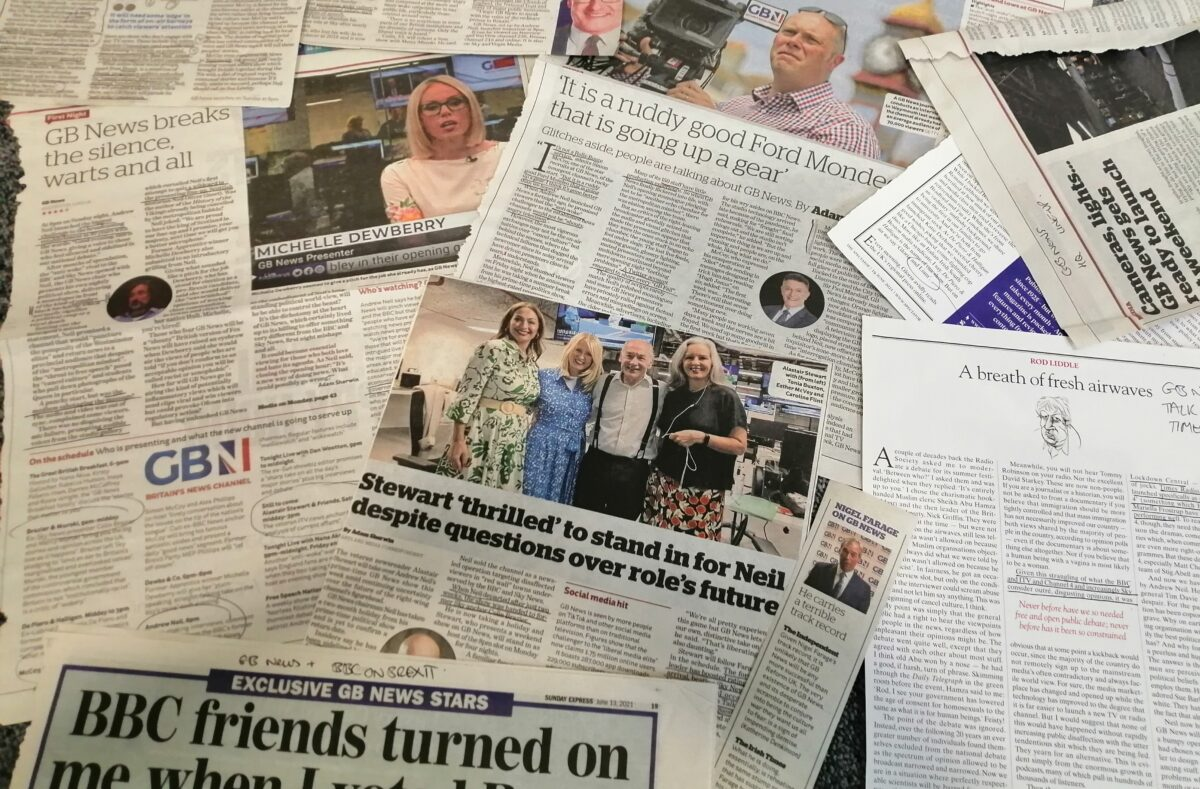Coverage of the GB News launch